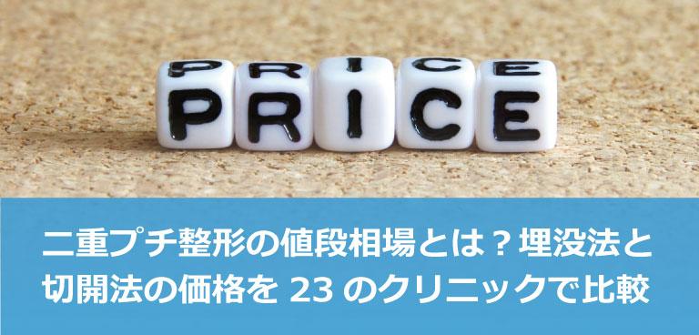 二重プチ整形(埋没法と切開法)の価格を24のクリニックで比較